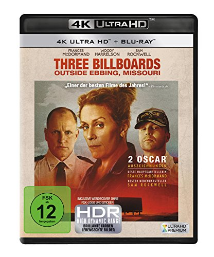 Three Billboards Outside Ebbing, Missouri (4K Ultra HD) [Blu-ray] von 20th Century Fox