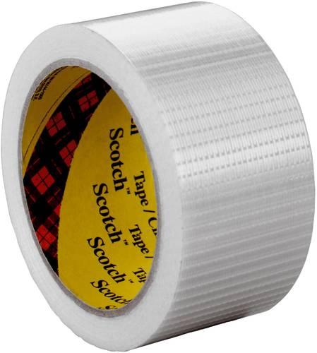 12 mm x 50 m 3M Tartan Filament-Klebeband Standard 8953 72-er Pack Transparent
