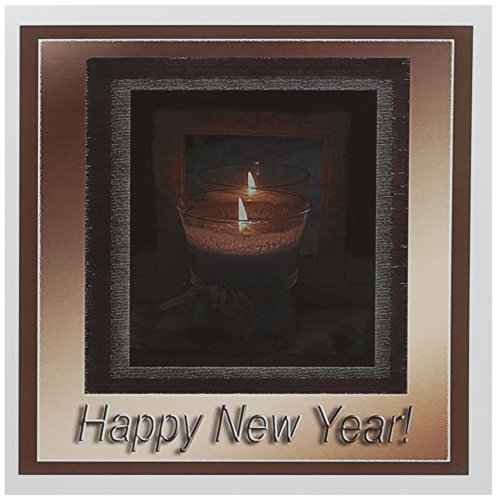 3dRose Candle Happy New Year - Greeting Cards, 6 x 6 inches, set of 12 (gc_26970_2) von 3dRose