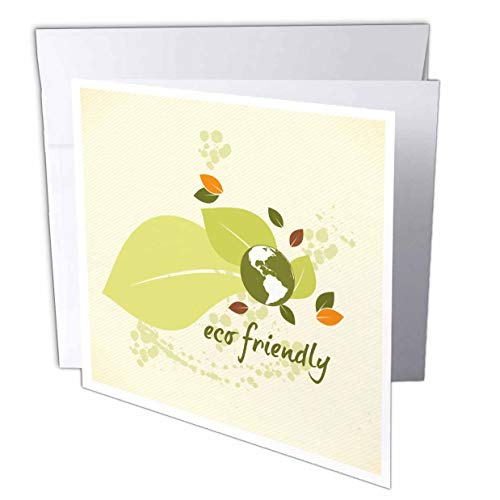 3dRose Greeting Cards, 6 x 6 Inches, Pack of 12, Eco-Friendly Leaf Earth Day Environmental (gc_104520_2) von 3dRose