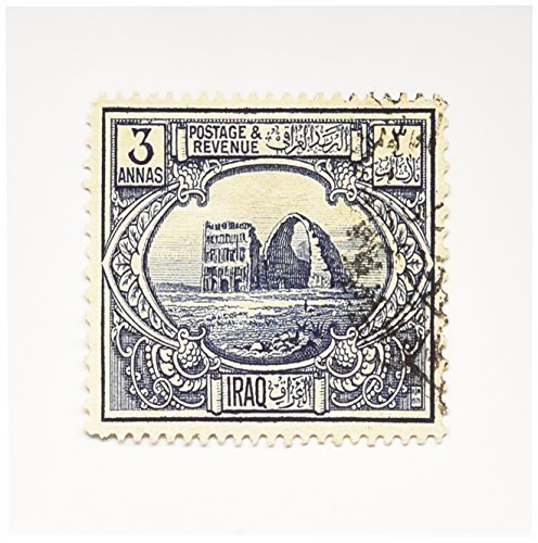 3dRose Greeting Cards, 6 x 6 Inches, Pack of 12, Image of 1923 Iraq Postage Stamp (gc_163492_2) von 3dRose