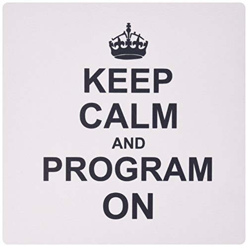 3dRose LLC 8 x 8 x 0.25 Inches Mouse Pad, Keep Calm and Program on Carry On Programming Coding Programmer Job Gifts Fun Funny Humor (mp_157757_1) von 3dRose