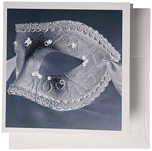 3dRose Masquerade In Antique Black Glitter - Greeting Cards, 6 x 6 inches, set of 6 (gc_7031_1) von 3dRose