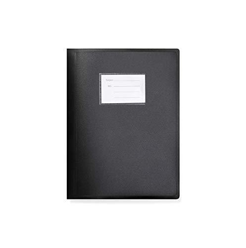 Arpan Schwarz A4 Sichtbuch Ordner flexiblen Abdeckung Portfolio 104 Taschen 208 Sides