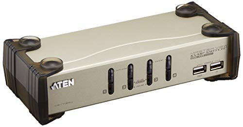 ATEN 4 Port USB KVMP Switch KVM Switch 4 -> 1 PS / 2 - USB 1.1 mit Audio von ATEN