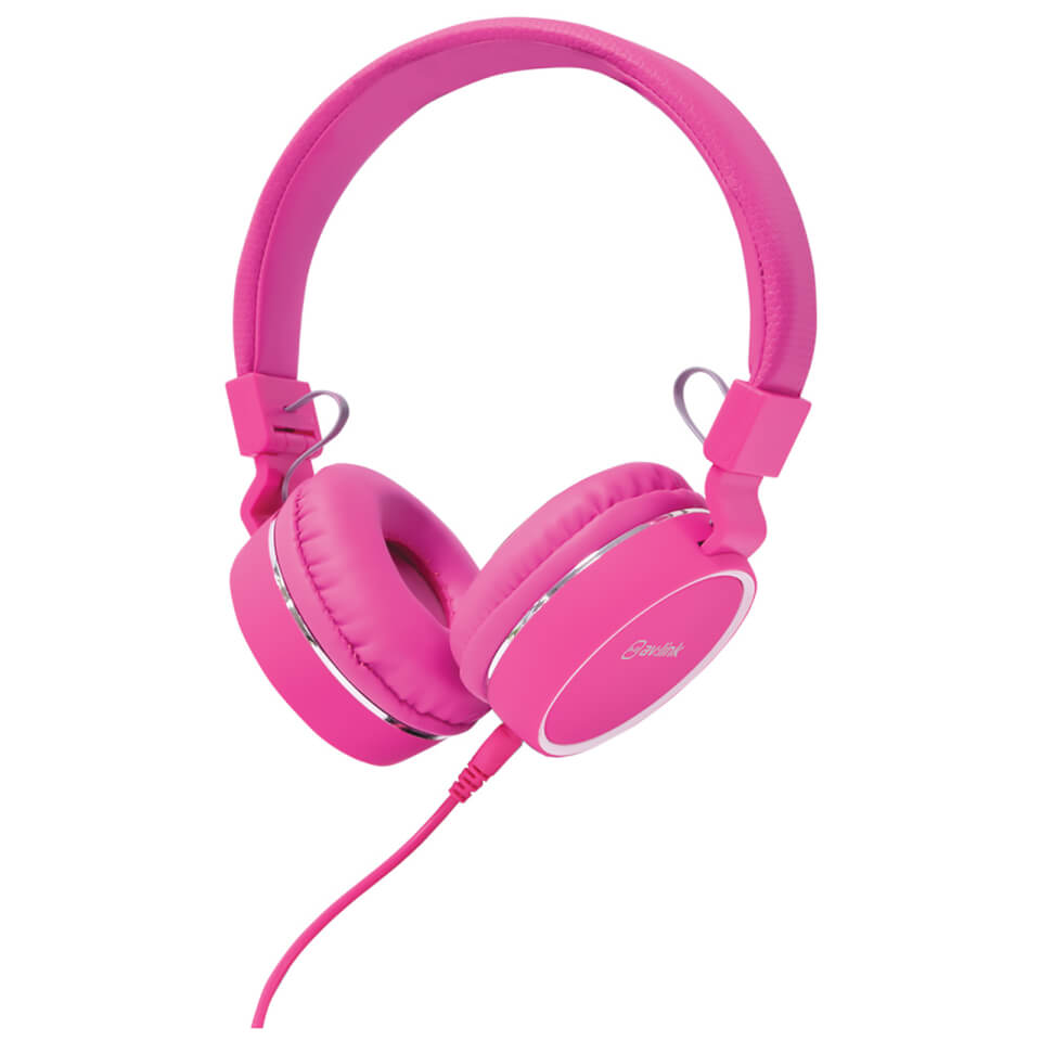 AV: Link Multimedia Headphones with Inline Microphone - Pink/White von AV: Link