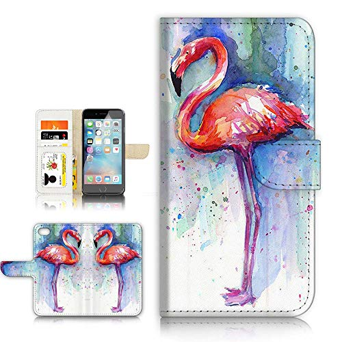 A21758 Klappetui für iPhone 6, iPhone 6S, Design Flamingo von Ajour Pty Ltd