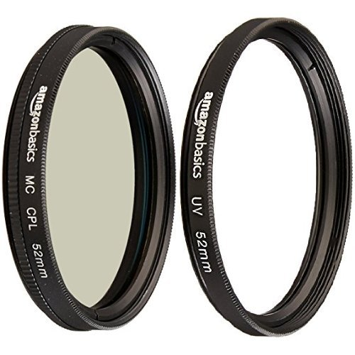 Amazon Basics Zirkularer Polarisationsfilter - 52mm & UV-Sperrfilter - 52mm von Amazon Basics