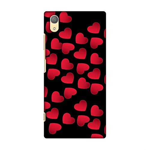 AMZER Slim Fit Handcrafted Designer Printed Snap On Hard Shell Case Back Cover with Screen Cleaning Kit Skin for Sony Xperia Xa1 Plus - Floating Hearts HD Color, Ultra Light Back Case von Amzer