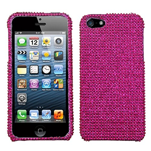 Asmyna IPHONE5HPCDMS023NP Dazzling Luxurious Bling Case for iPhone 5-1 Pack - Retail Packaging - Hot Pink von Asmyna