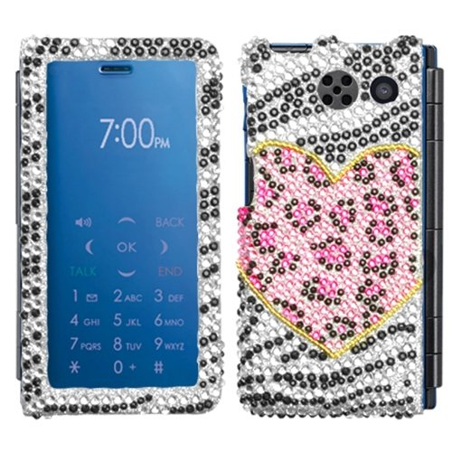 Asmyna SY6780HPCDM173NP Premium Dazzling Diamante Diamond Case for Sanyo Innuendo 6780-1 Pack - Retail Packaging - Playful Leopard von Asmyna