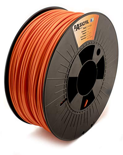 BASICFIL PLA 2.85mm 1 kg, ORANGE (orange), 3D Drucker Filament von BASICFIL