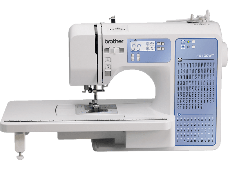 BROTHER FS100WT (100 Stiche) Computer-Nähmaschine (40 Watt, 1-stufig) von BROTHER