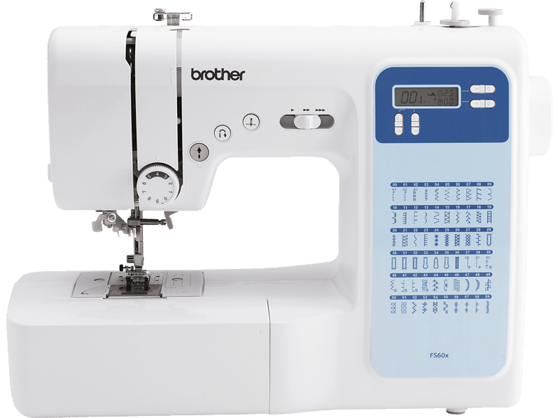 BROTHER FS60x Comfort Computer-Nähmaschine (43 Watt, 1-stufig) von BROTHER