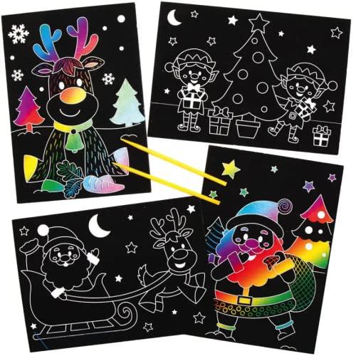 Festliche Kreativsets und Bastelbedarf f/ür Kinder zum Basteln und Dekorieren zur Winterzeit Baker Ross AX333 Diwali Plattendekorationen Bastelset f/ür Kinder 4 St/ück