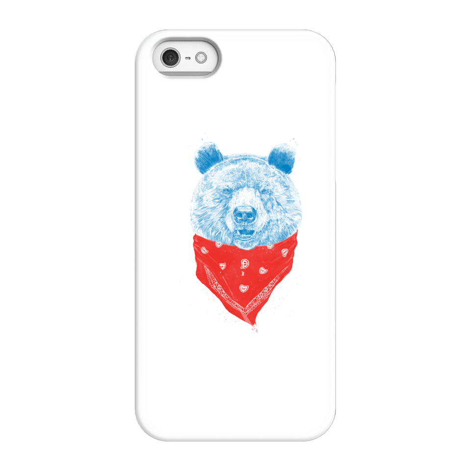 Balazs Solti Bandana Panda Phone Case for iPhone and Android - iPhone 5/5s - Snap Hülle Matt von Balazs Solti