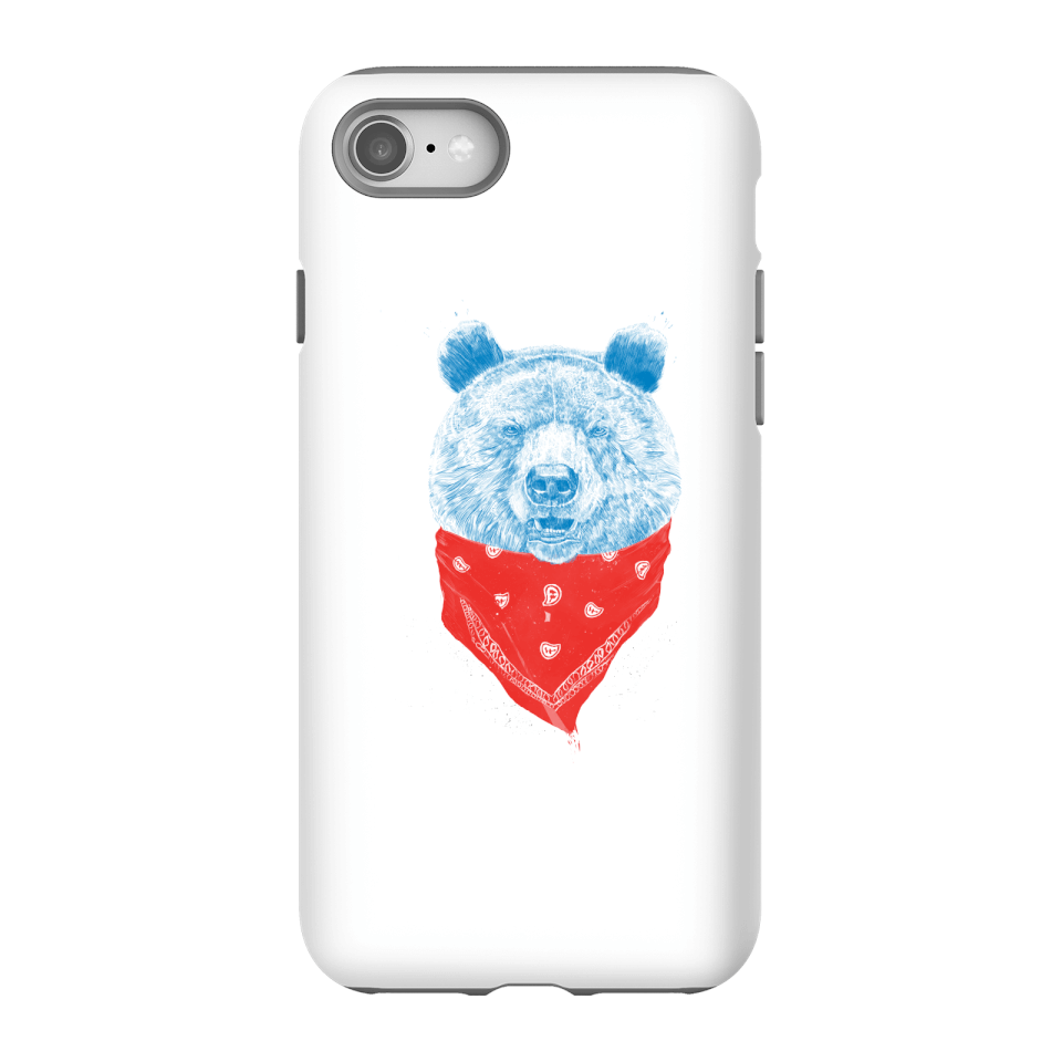 Balazs Solti Bandana Panda Phone Case for iPhone and Android - iPhone 8 - Tough Hülle Glänzend von Balazs Solti