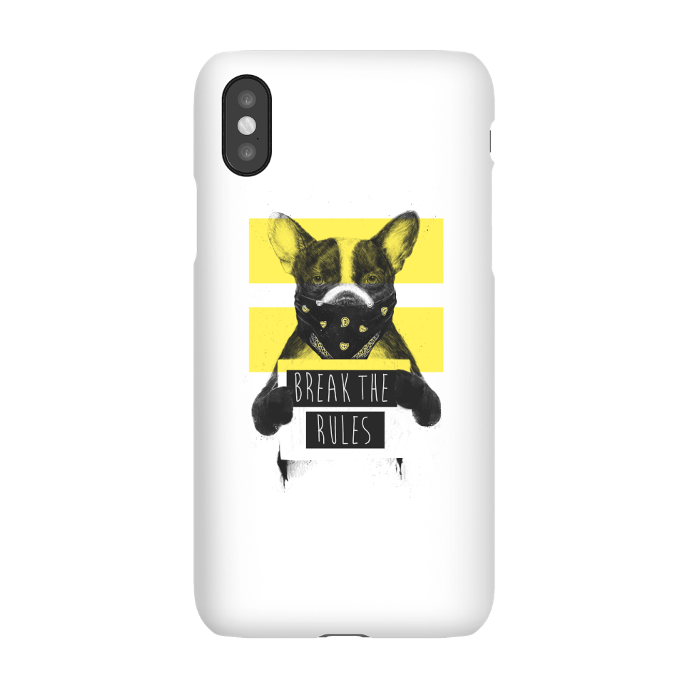 Balazs Solti Break The Rules Phone Case for iPhone and Android - iPhone X - Snap Hülle Matt von Balazs Solti