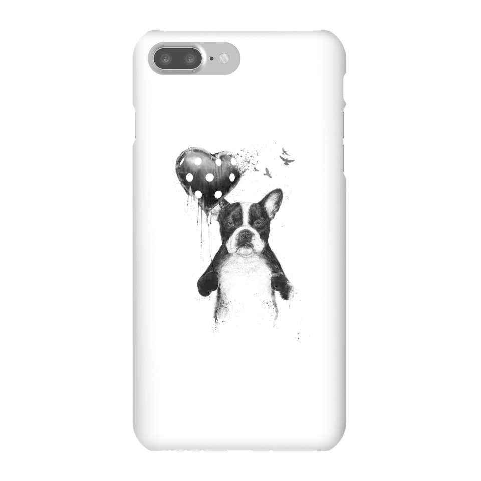 Balazs Solti Bulldog And Balloon Phone Case for iPhone and Android - iPhone 7 Plus - Snap Case - Matte von Balazs Solti