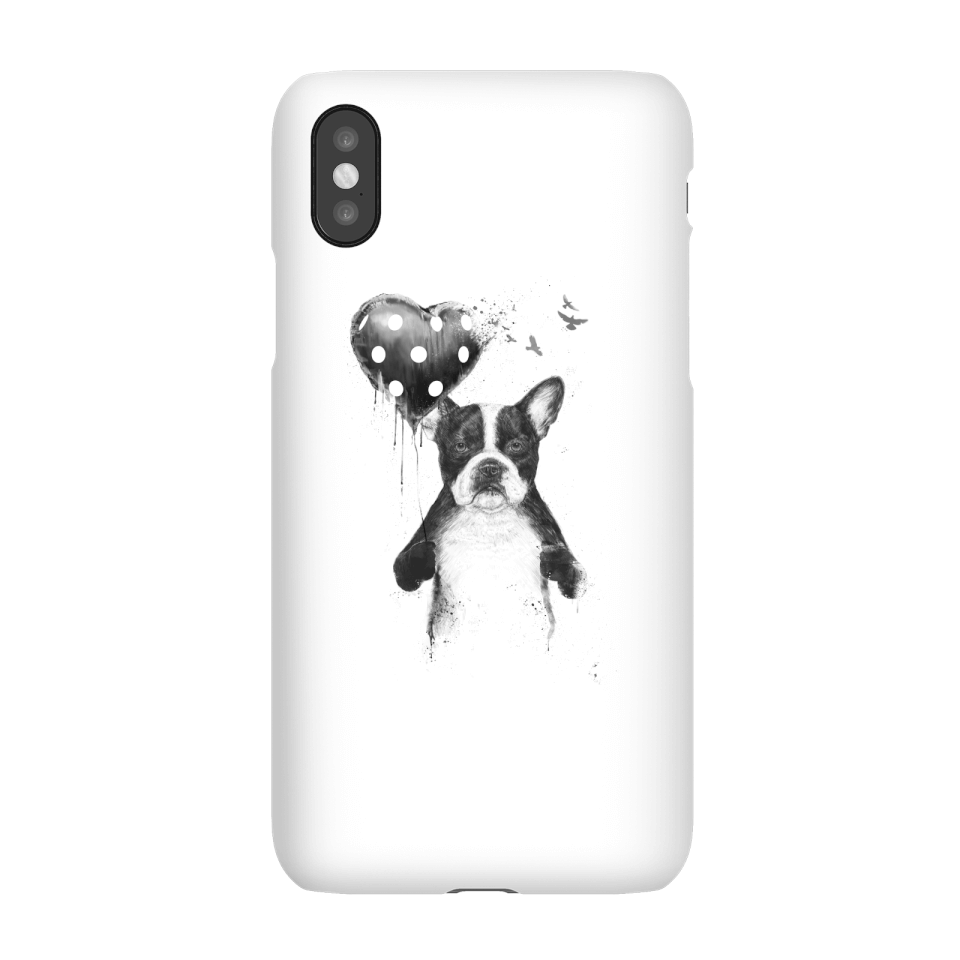 Balazs Solti Bulldog And Balloon Phone Case for iPhone and Android - iPhone X - Snap Hülle Matt von Balazs Solti