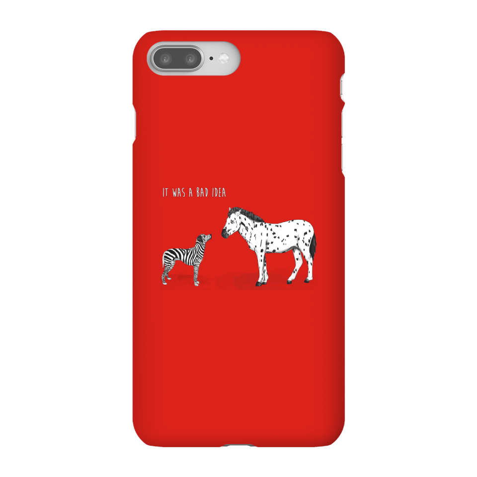 Balazs Solti It Was A Bad Idea Phone Case for iPhone and Android - iPhone 8 Plus - Snap Hülle Matt von Balazs Solti