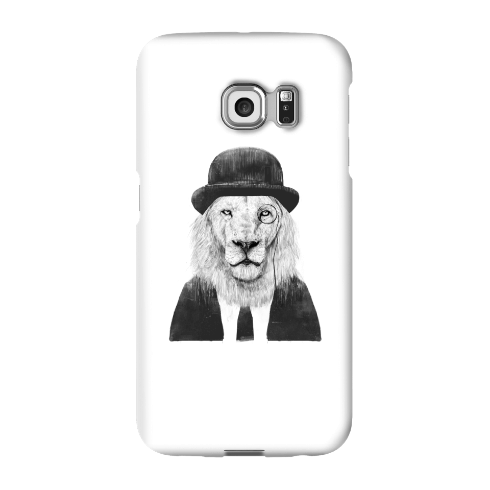 Balazs Solti Monocle Lion Phone Case for iPhone and Android - Samsung S6 Edge - Snap Hülle Matt von Balazs Solti