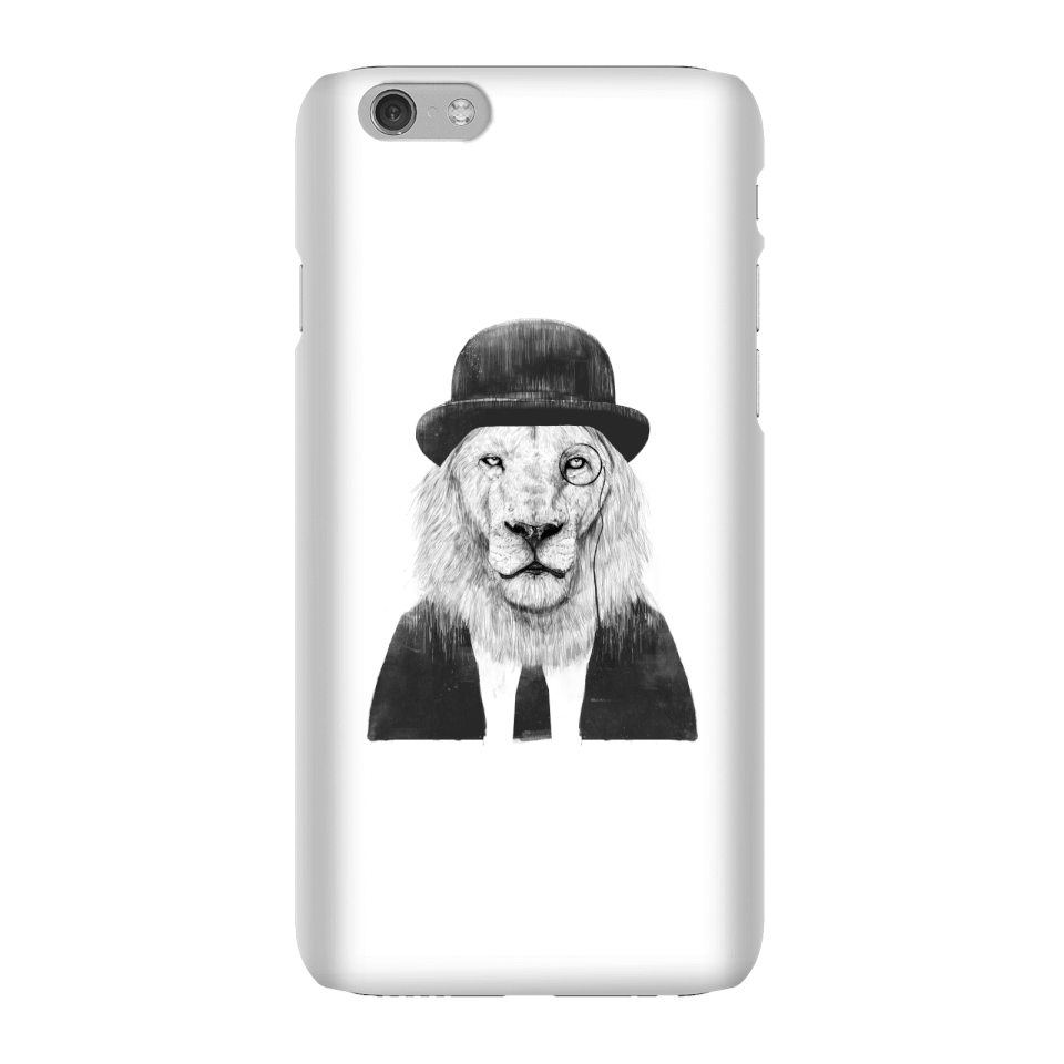 Balazs Solti Monocle Lion Phone Case for iPhone and Android - iPhone 6 - Snap Hülle Matt von Balazs Solti