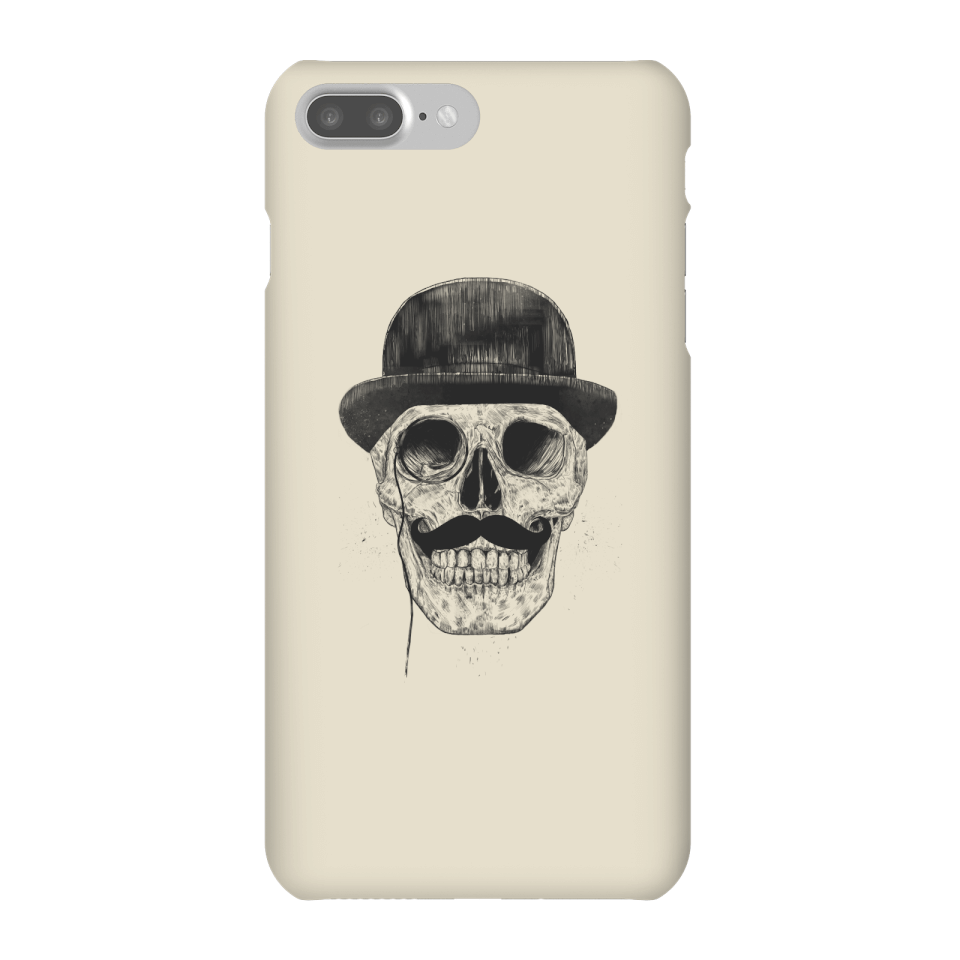 Balazs Solti Monocle Skull Phone Case for iPhone and Android - iPhone 7 Plus - Snap Case - Matte von Balazs Solti