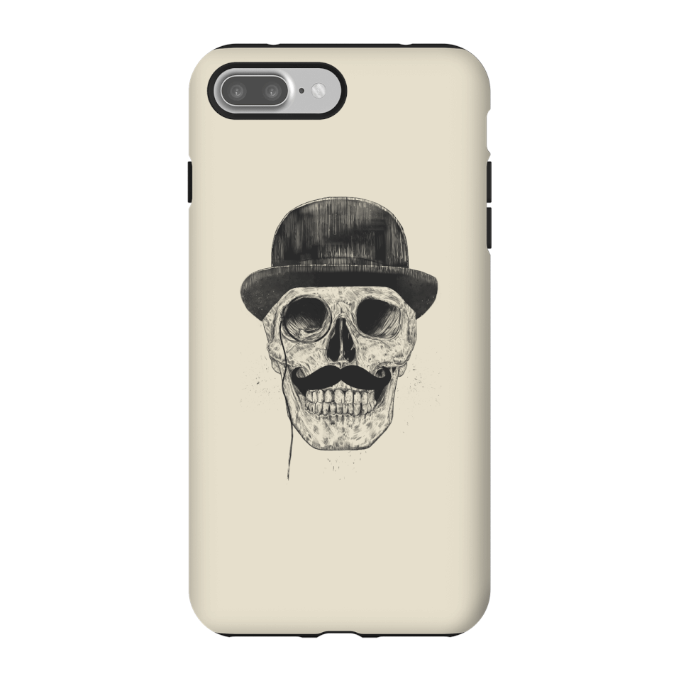 Balazs Solti Monocle Skull Phone Case for iPhone and Android - iPhone 7 Plus - Tough Hülle Glänzend von Balazs Solti