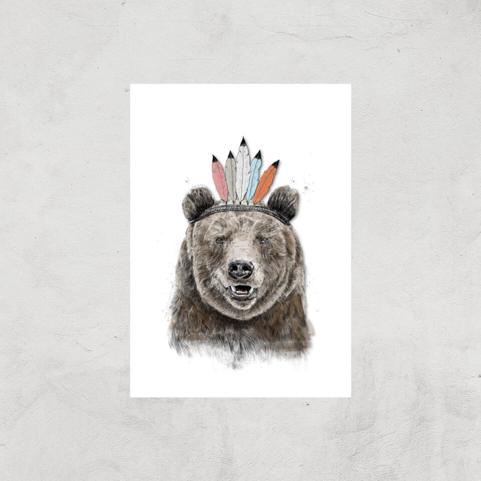 Balazs Solti Native Bear Art Print - A3 - Print Only von Balazs Solti