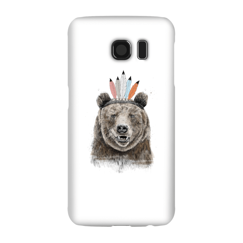Balazs Solti Native Bear Phone Case for iPhone and Android - Samsung S6 - Snap Hülle Matt von Balazs Solti
