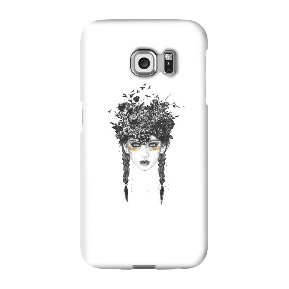Balazs Solti Native Girl Phone Case for iPhone and Android - Samsung S6 Edge - Snap Hülle Glänzend von Balazs Solti