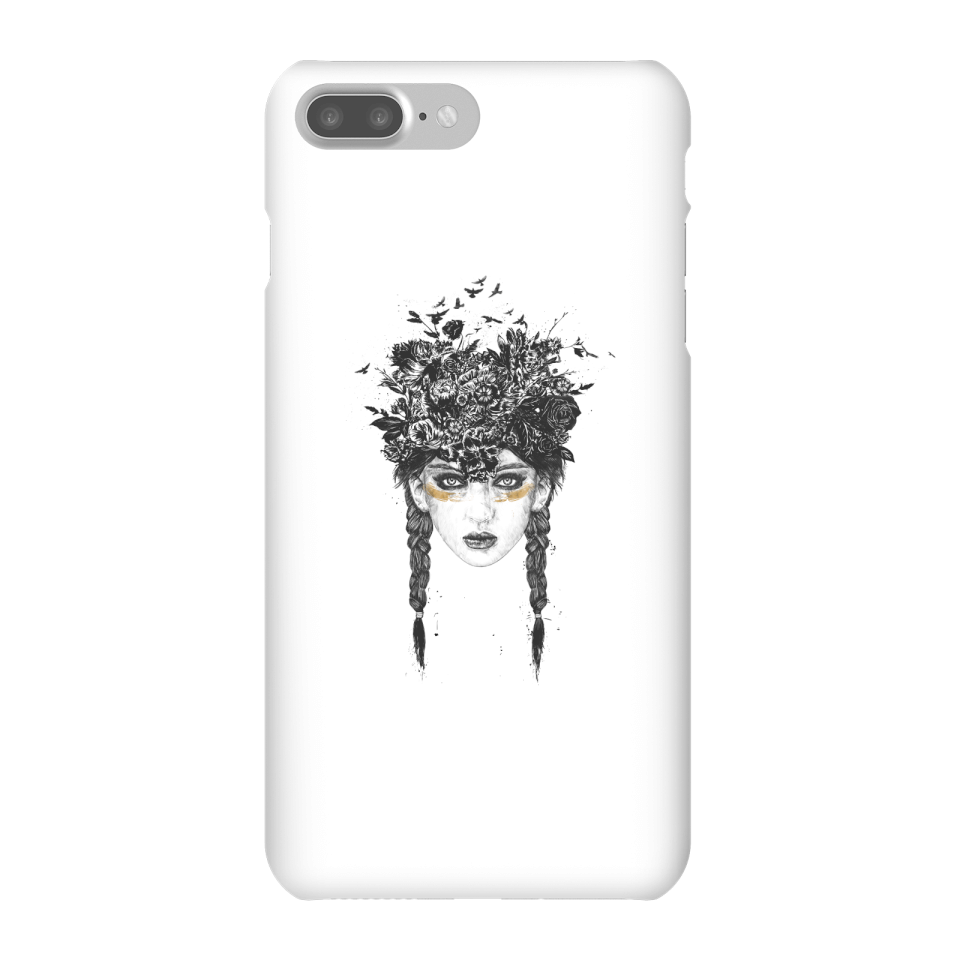 Balazs Solti Native Girl Phone Case for iPhone and Android - iPhone 7 Plus - Snap Case - Matte von Balazs Solti