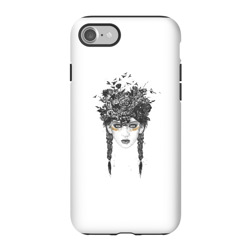 Balazs Solti Native Girl Phone Case for iPhone and Android - iPhone 7 - Tough Hülle Matt von Balazs Solti