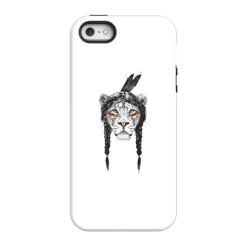 Balazs Solti Native Lion Phone Case for iPhone and Android - iPhone 5/5s - Tough Hülle Matt von Balazs Solti