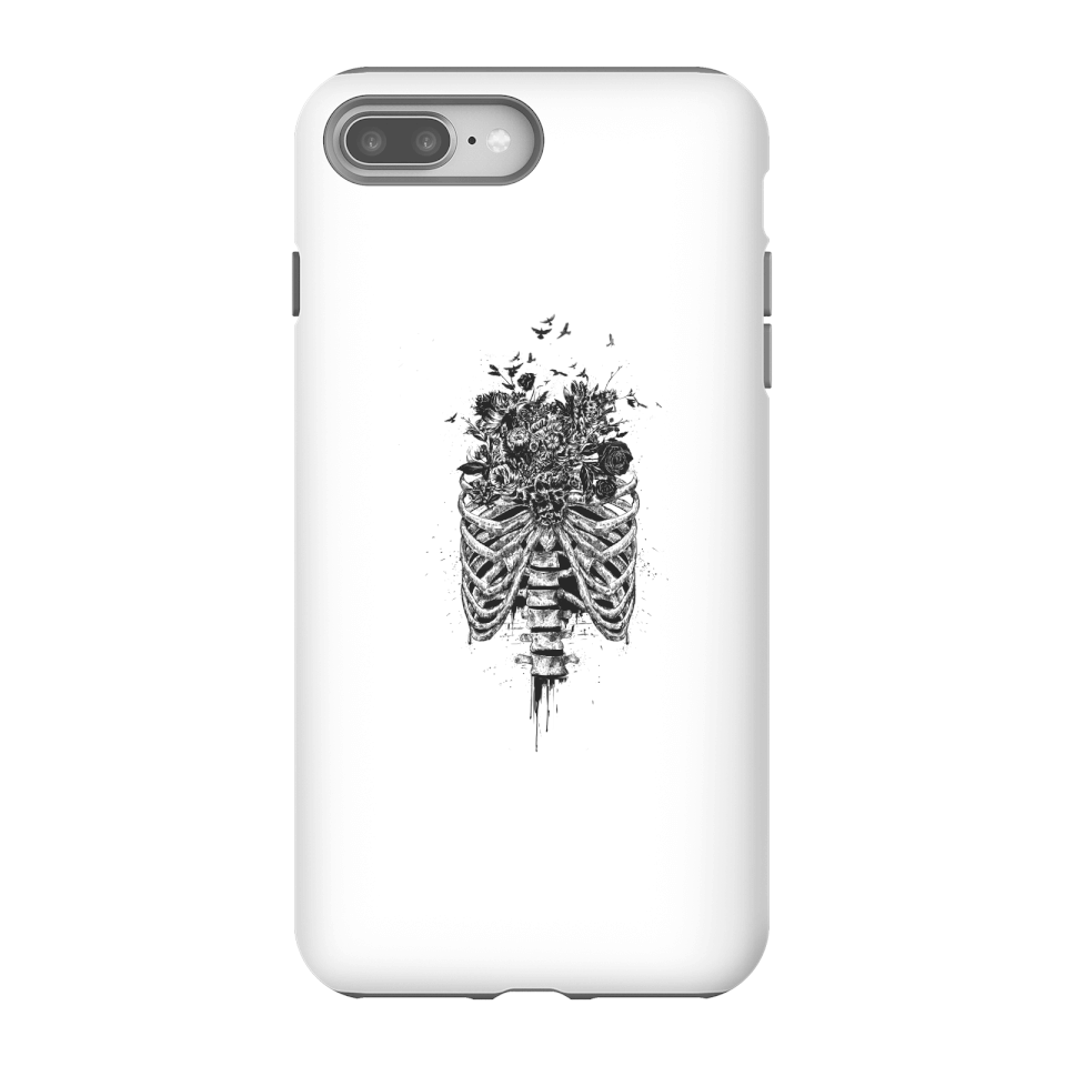 Balazs Solti Ribcage And Flowers Phone Case for iPhone and Android - iPhone 8 Plus - Tough Hülle Matt von Balazs Solti