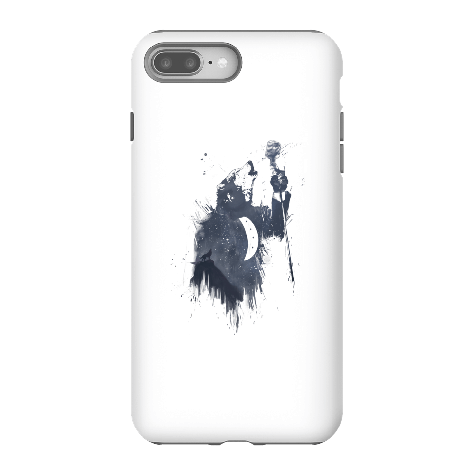 Balazs Solti Singing Wolf Phone Case for iPhone and Android - iPhone 8 Plus - Tough Hülle Glänzend von Balazs Solti