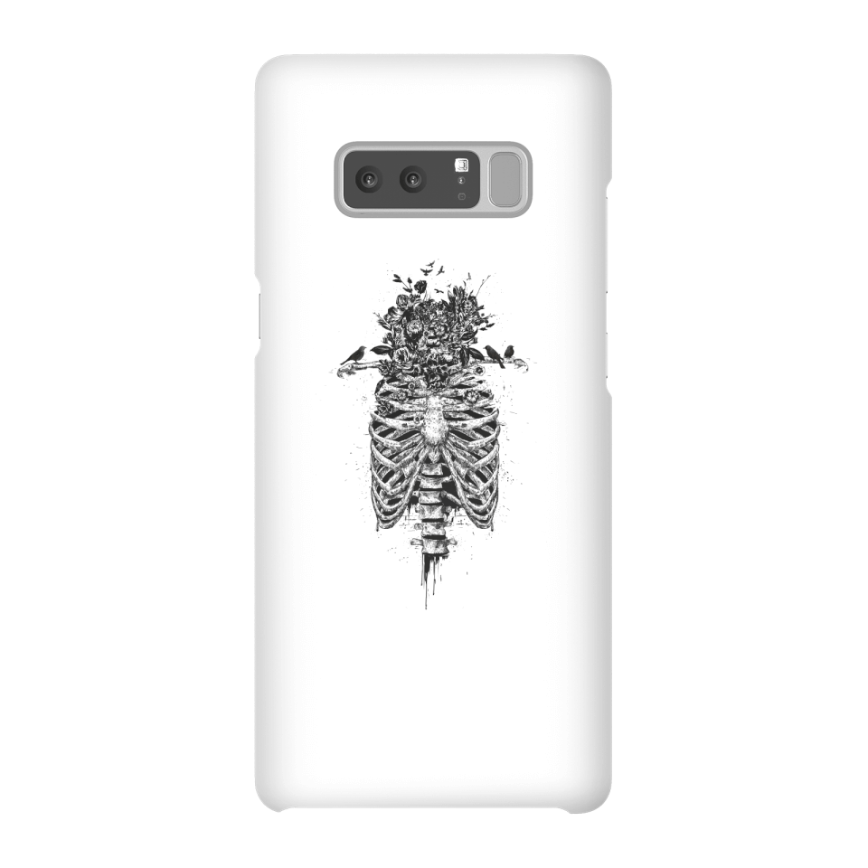 Balazs Solti Skulls And Flowers Phone Case for iPhone and Android - Samsung Note 8 - Snap Hülle Glänzend von Balazs Solti