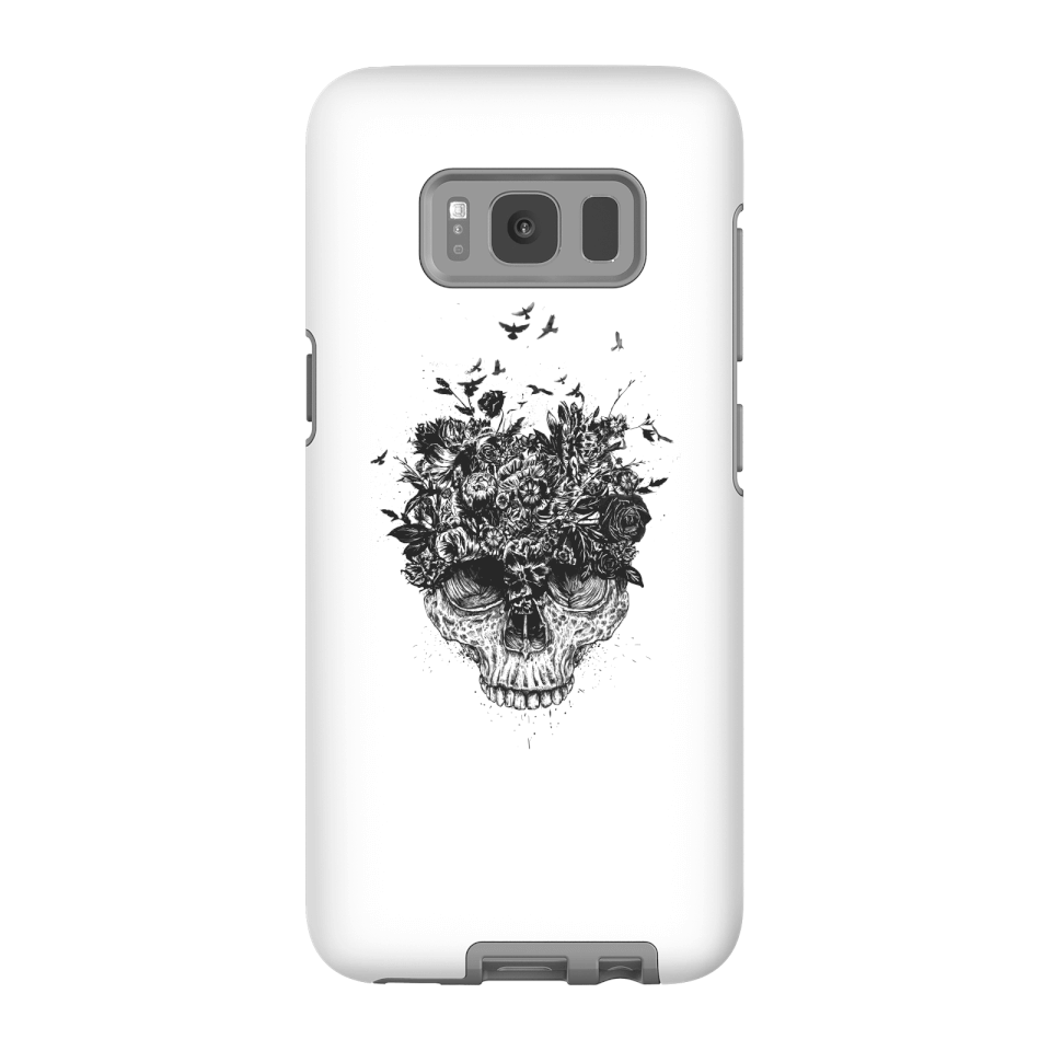 Balazs Solti Skulls And Flowers Phone Case for iPhone and Android - Samsung S8 - Tough Hülle Matt von Balazs Solti
