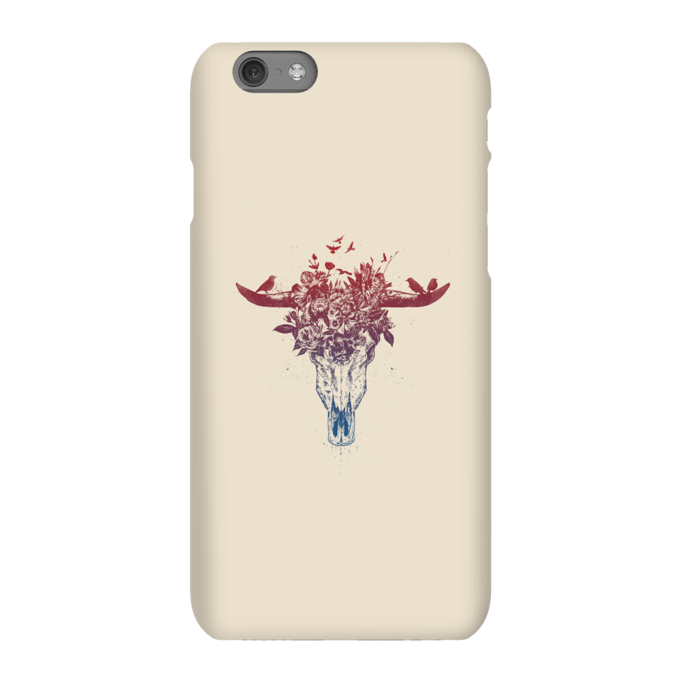 Balazs Solti Skulls And Flowers Phone Case for iPhone and Android - iPhone 6S - Snap Hülle Matt von Balazs Solti