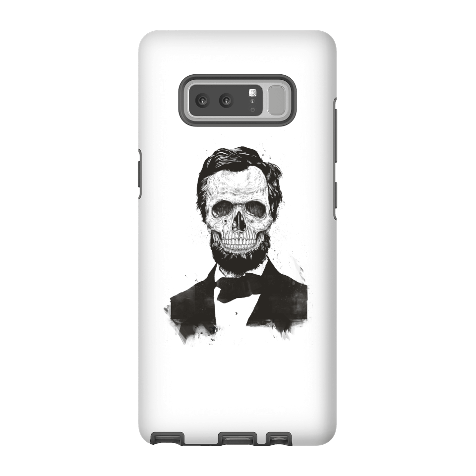 Balazs Solti Suited And Booted Skull Phone Case for iPhone and Android - Samsung Note 8 - Tough Case - Matte von Balazs Solti