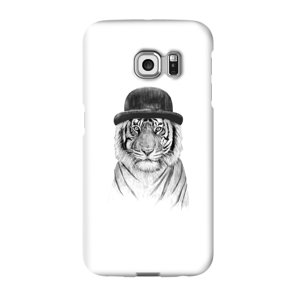 Balazs Solti Tiger In A Hat Phone Case for iPhone and Android - Samsung S6 Edge - Snap Hülle Glänzend von Balazs Solti