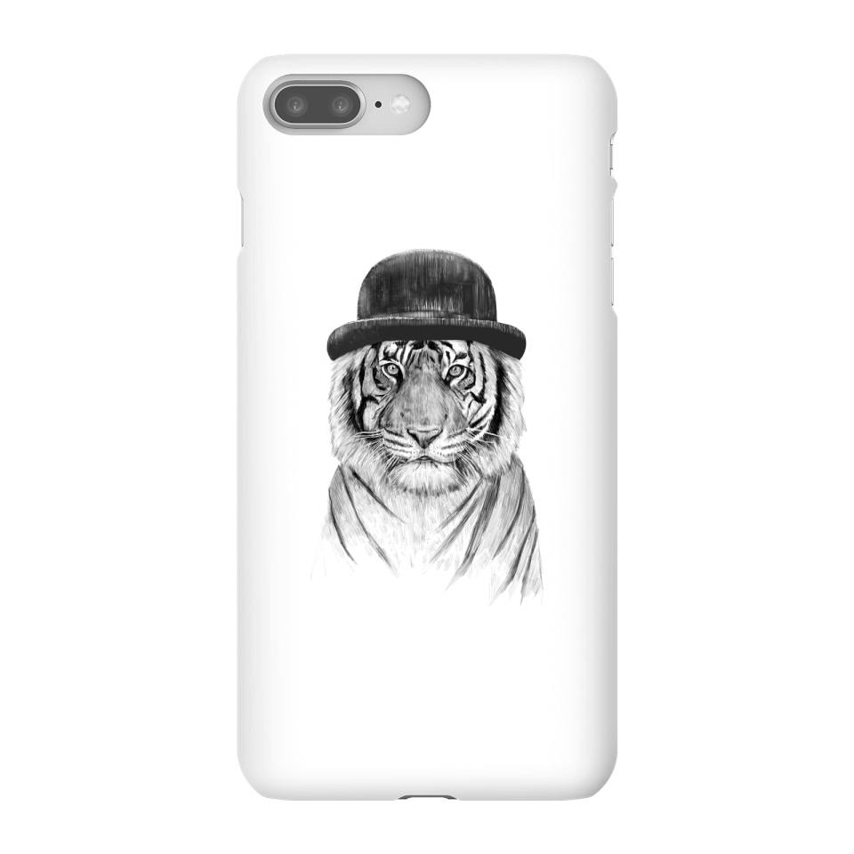 Balazs Solti Tiger In A Hat Phone Case for iPhone and Android - iPhone 8 Plus - Snap Case - Gloss von Balazs Solti