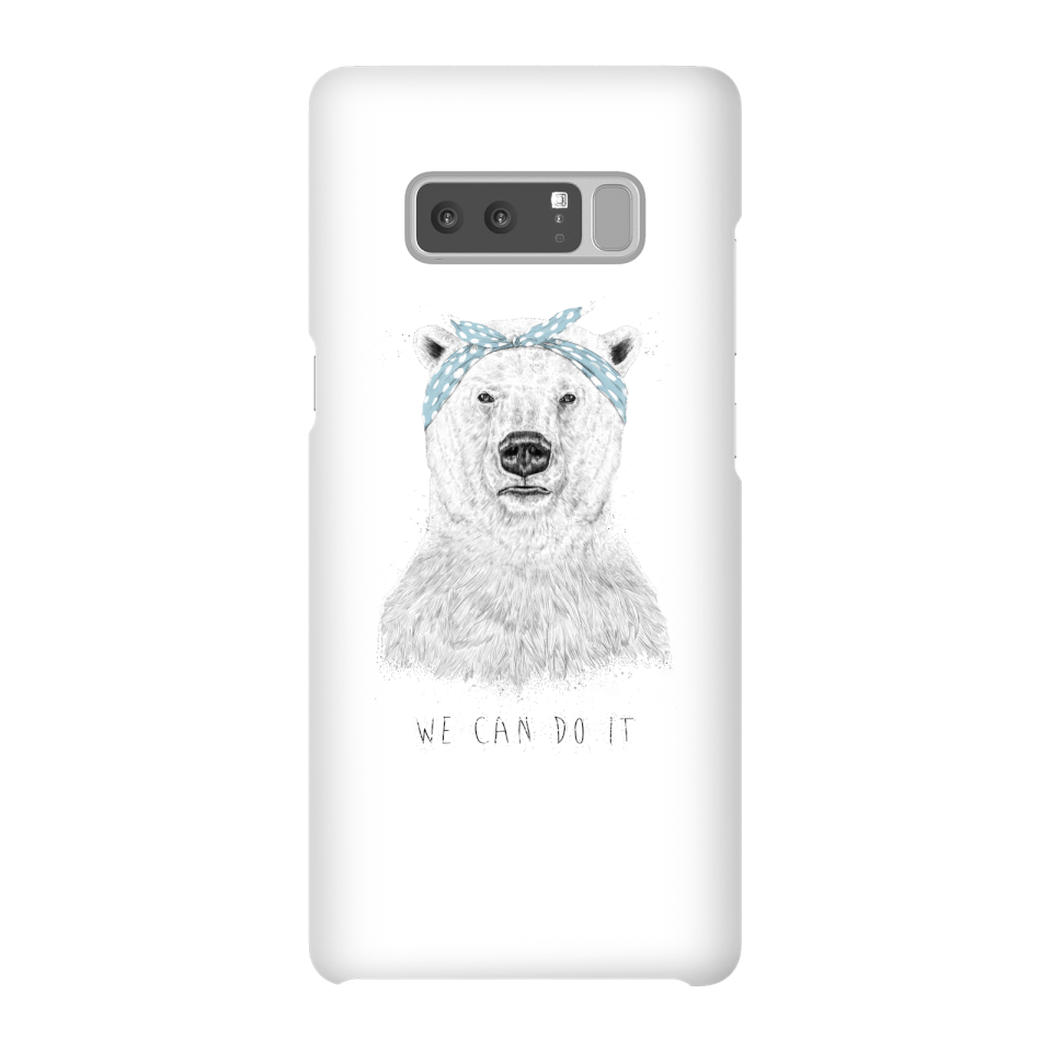 Balazs Solti We Can Do It Phone Case for iPhone and Android - Samsung Note 8 - Snap Hülle Matt von Balazs Solti