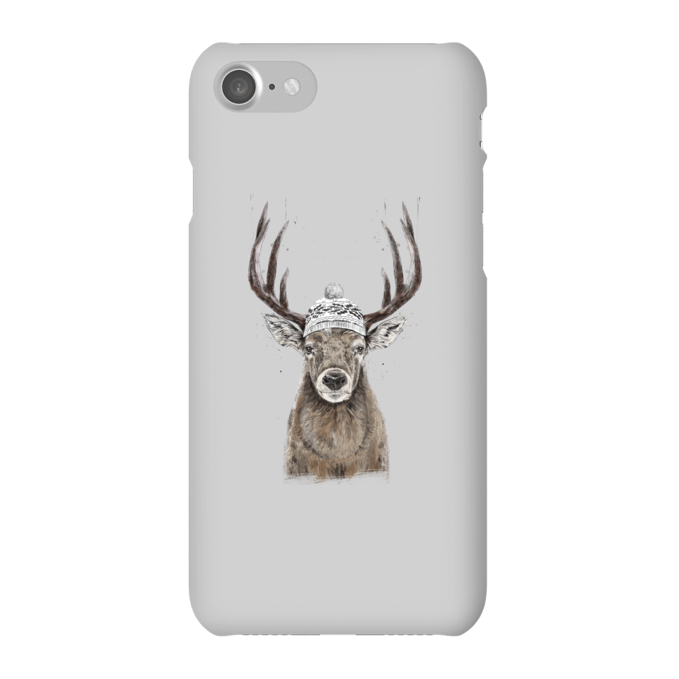 Balazs Solti Winter Deer Phone Case for iPhone and Android - iPhone 7 - Snap Hülle Glänzend von Balazs Solti