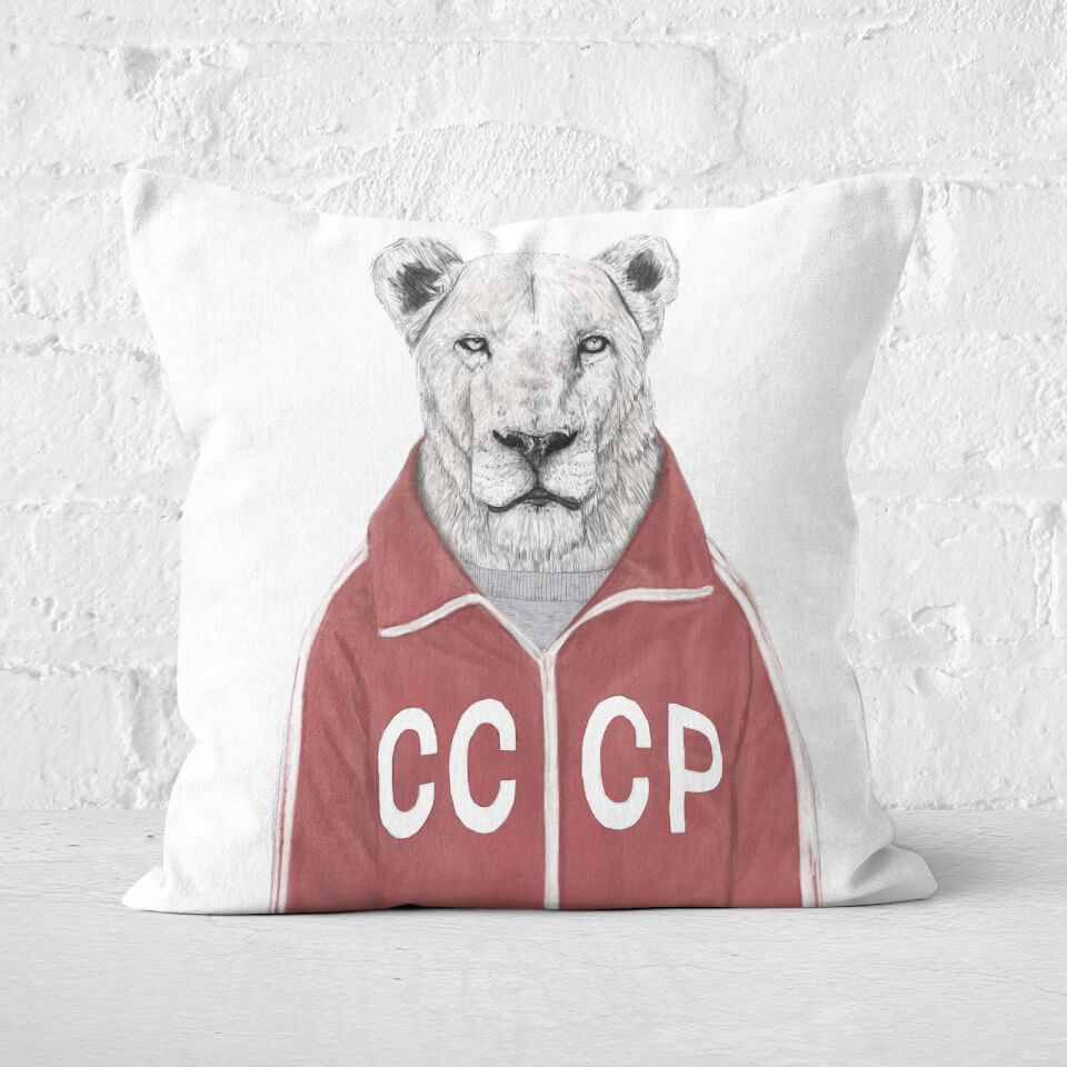 Soviet Lion Cushion Square Cushion - 60x60cm - Soft Touch von Balazs Solti
