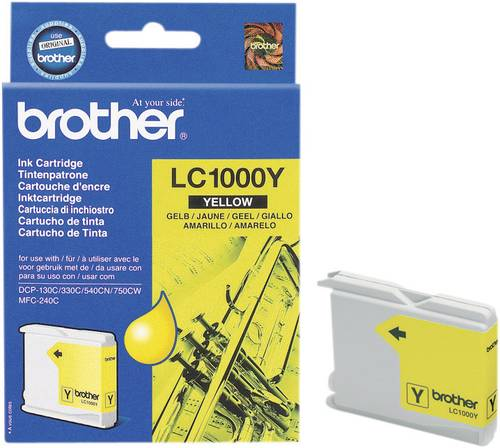 Brother Tinte LC-1000Y Original Gelb LC1000Y von Brother