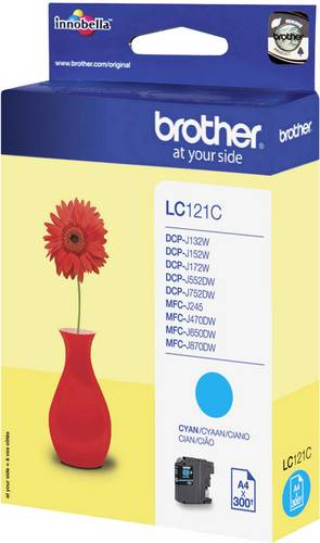 Brother Tinte LC-121C Original Cyan LC121C von Brother