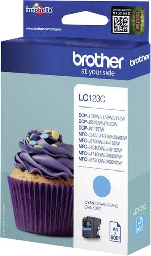 Brother Tinte LC-123C Original Cyan LC123C von Brother