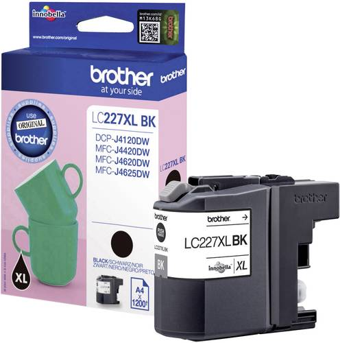 Brother Tinte LC-227XLBK Original Schwarz LC227XLBK von Brother